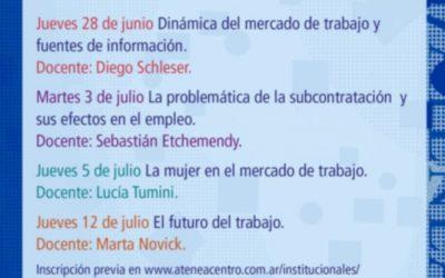 Ciclo de conferencias: Las políticas de empleo en Argentina